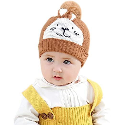 Amazon.com  IMLECK Baby Boys Girl Beanie Cute Rabbit Expression ... 377cbf39c5d0