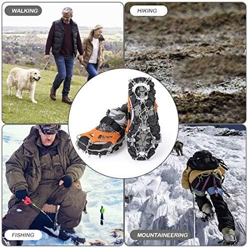 neve altitudine con artigli per scarpe per arrampicata alpinismo antiscivolo catena da neve Vihir trekking ghiaccio Ramponi con 19 denti