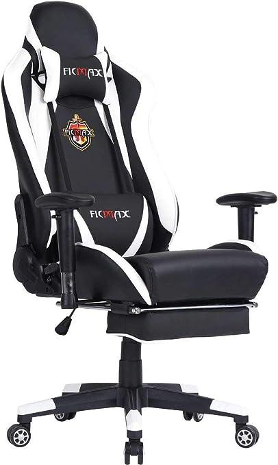 de de Ficmax Chaise Gaming pour Ordinateur Lombaire en jeu sports MassageE Chaise ErgonomiqueChaise de PU avec CourseChaise Gamer Support Style DI29EH