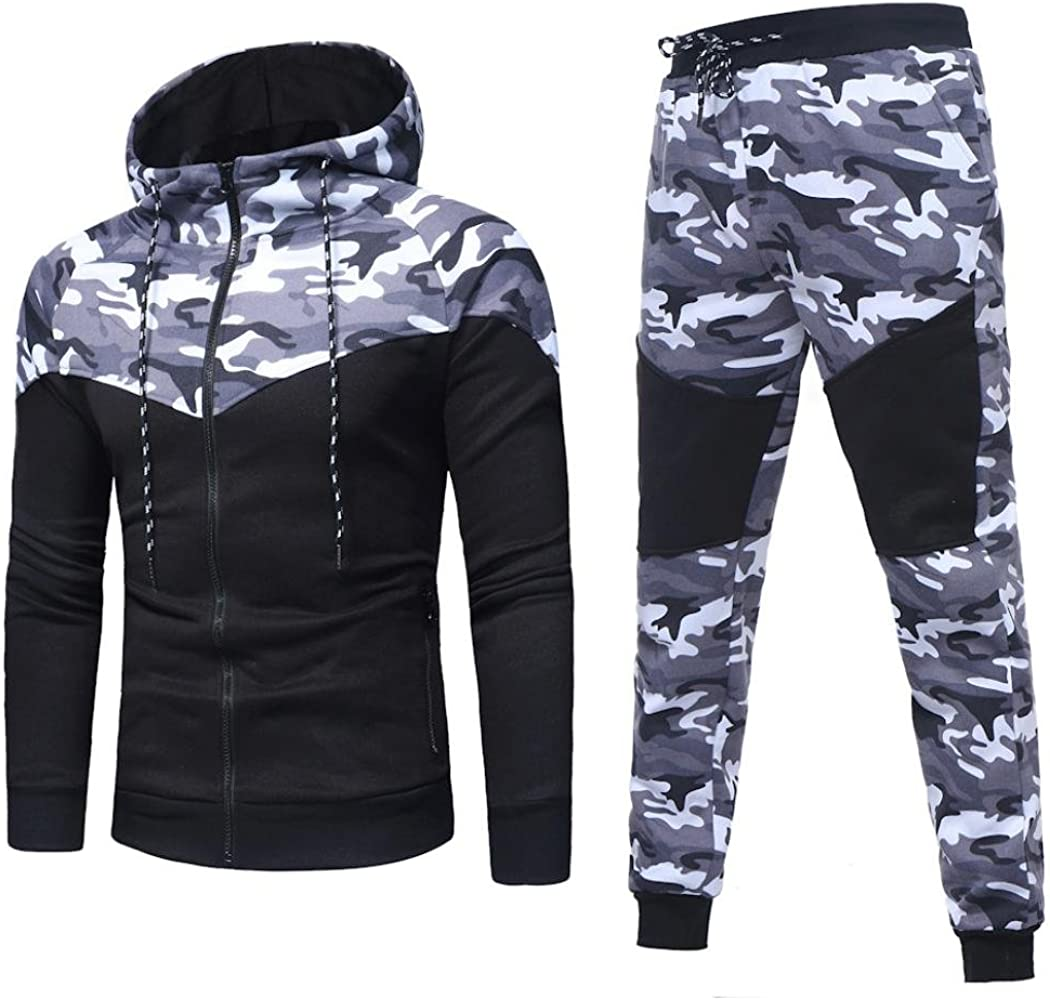 LMMVP Conjuntos de Pantalones Superiores para Hombres Otoño ...