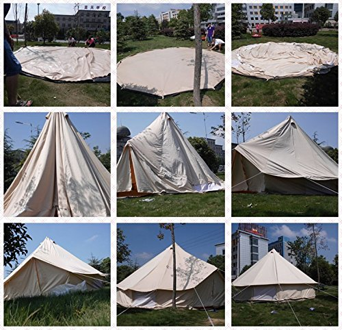 DANCHEL 360GSM Heavy Duty Cotton Fire Proof Bell Tent5M & DANCHEL 360GSM Heavy Duty Cotton Fire Proof Bell Tent5M - Camping ...