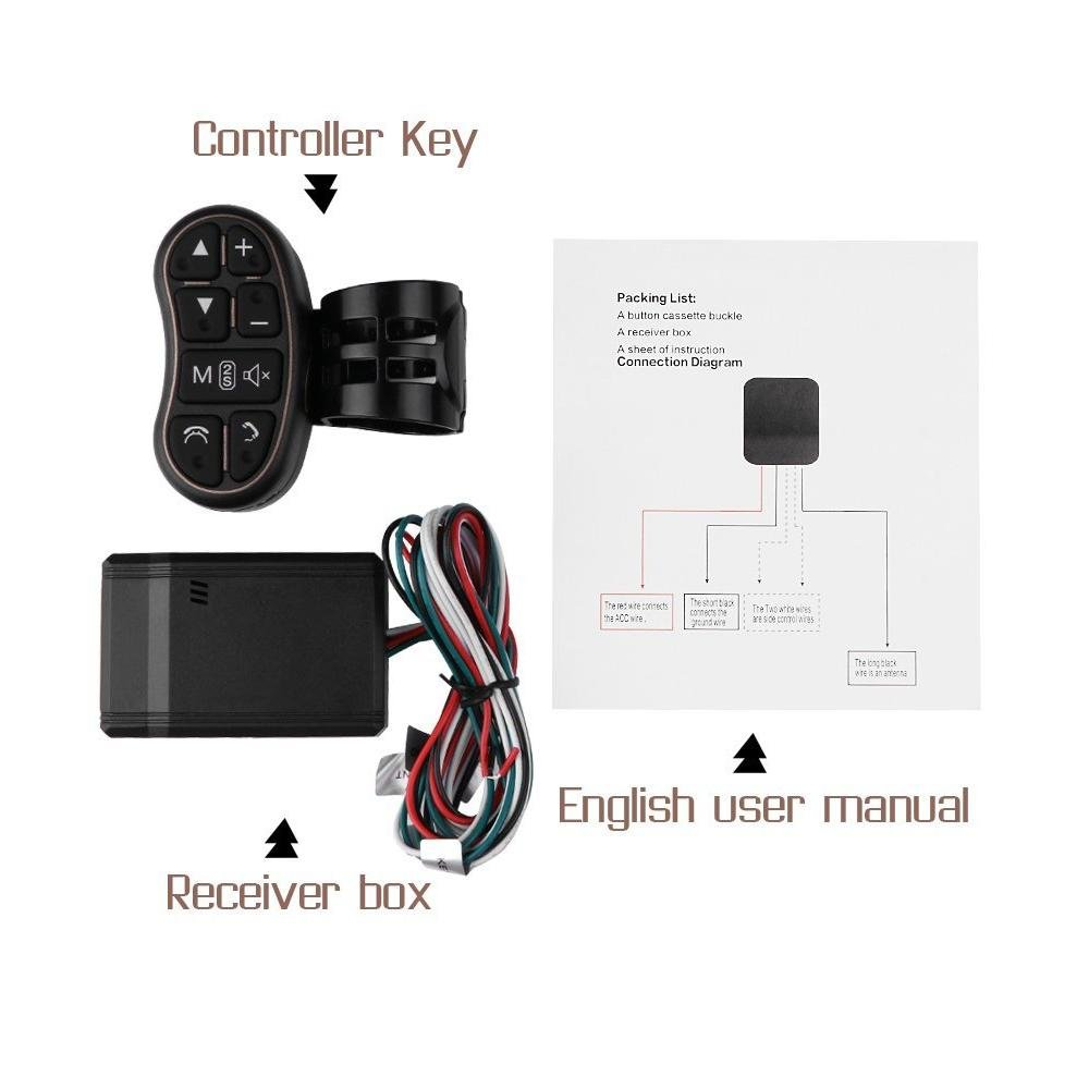 Universal Car Dvd Gps Player Wireless Remote Controller Steering 2 Din Nav Wiring Diagram Wheel Control Button For Navigation Radio Bluetooth