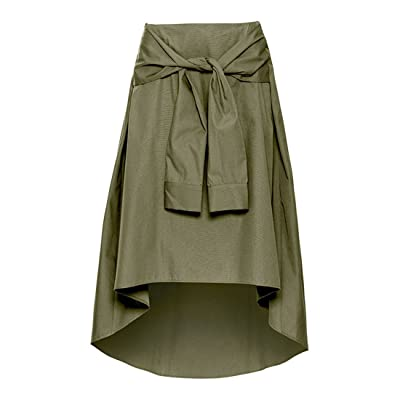 BRLLY Fashion Casual Asymmetrical Skirt Irregular Famme High Waist Skirts