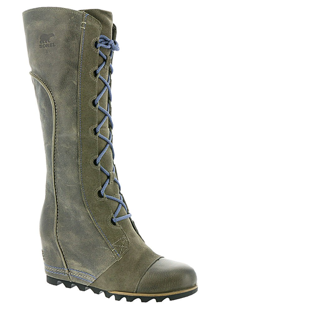 Sorel Cate The Great Wedge Boot - Women's Pebble / Atmosphere 9.5