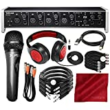 Tascam US-4x4 USB Audio Interface with Xpix Dynamic Condenser Microphone and Deluxe Bundle