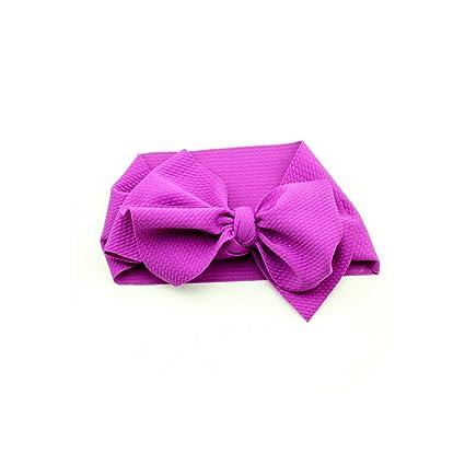 Adjustable  Newborn  Headwrap Turban  Knot Hairband Big Bow Baby Headband