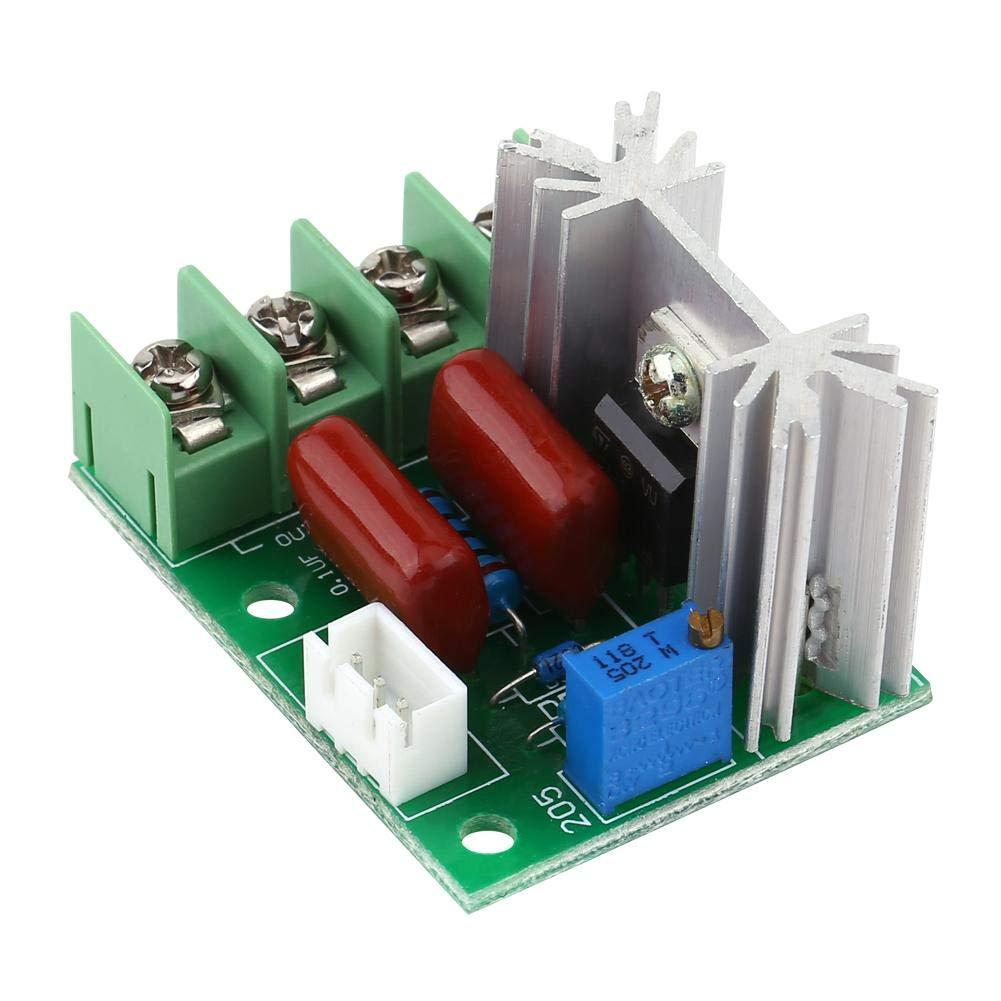 Controlador de voltaje Asixx AC 50-220V 2000W SCR Regulador de voltaje el/éctrico Temperatura//Regulador de velocidad del motor Dimmer de luz