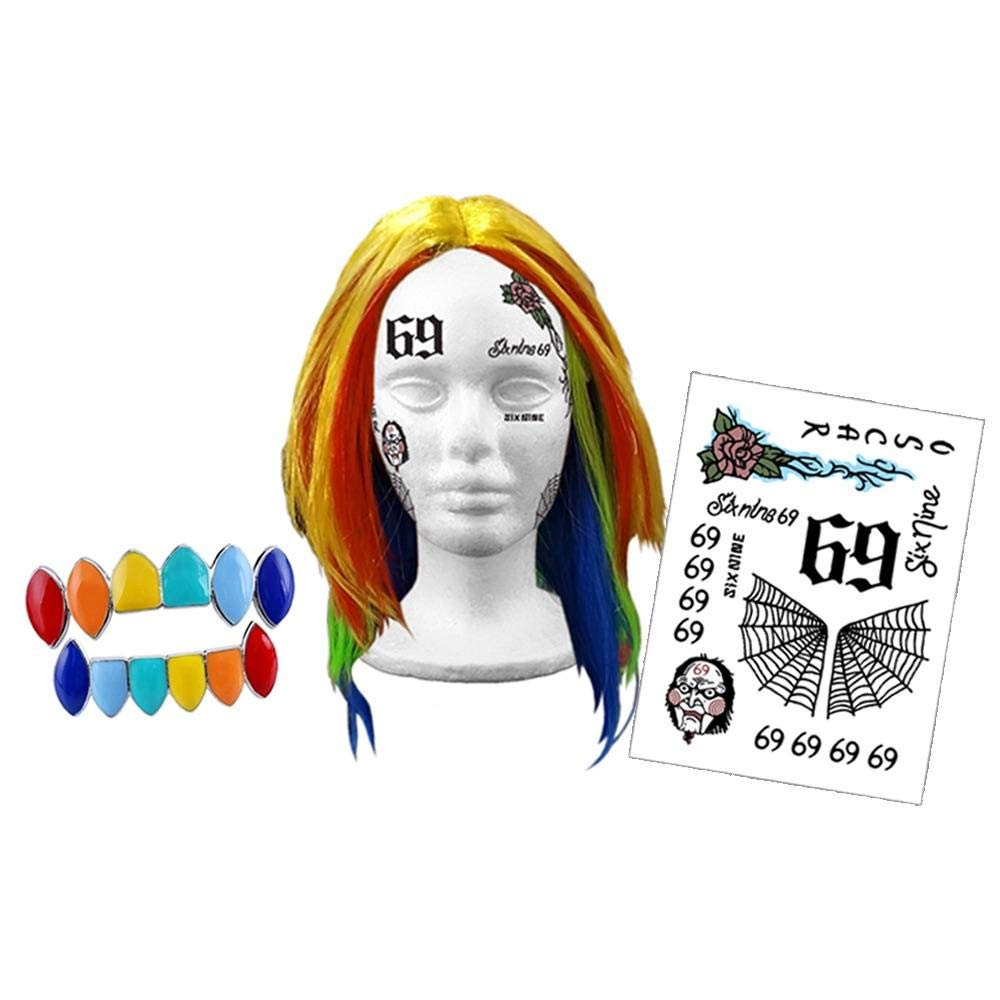 Defaced Tattoos Tekashi 69 Costume Kit by Defaced Tattoos
