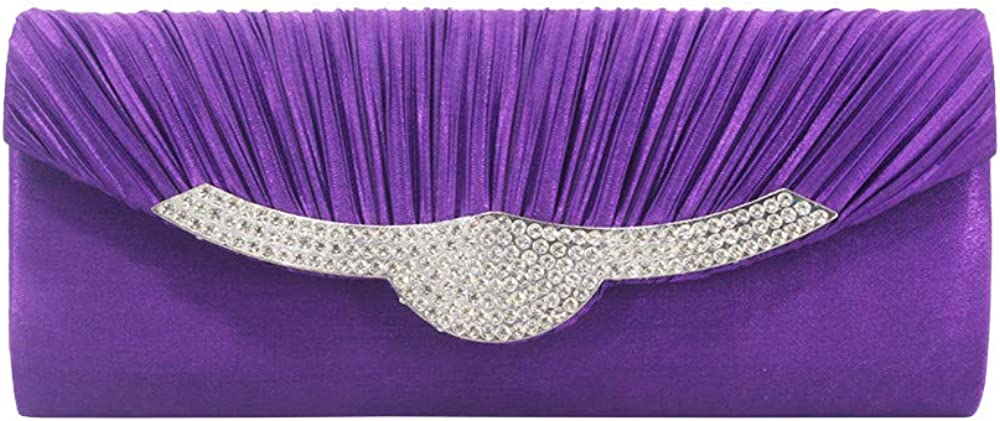 Cocktail Party for Women Evening Bag Diamond pleated Silk Hand Bag Fashion Single Shoulder Bag