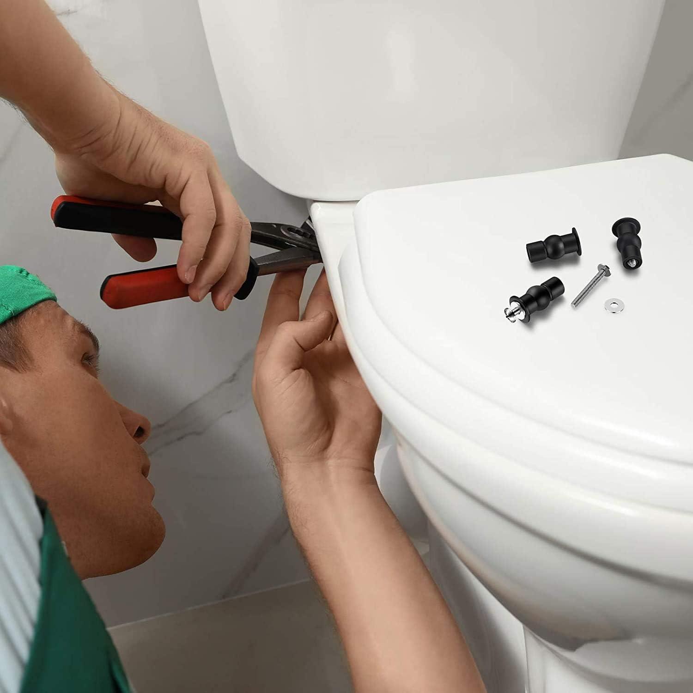 Toilet Seat Fixings Fix Expanding Rubber Top Nuts Screws 4 Pack Toilet Seat Hinges Screws