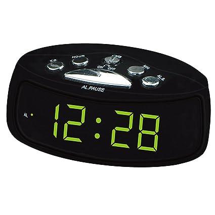 Reloj digital de números grandes 0.9 pulgadas de reloj de pantalla grande UE enchufe