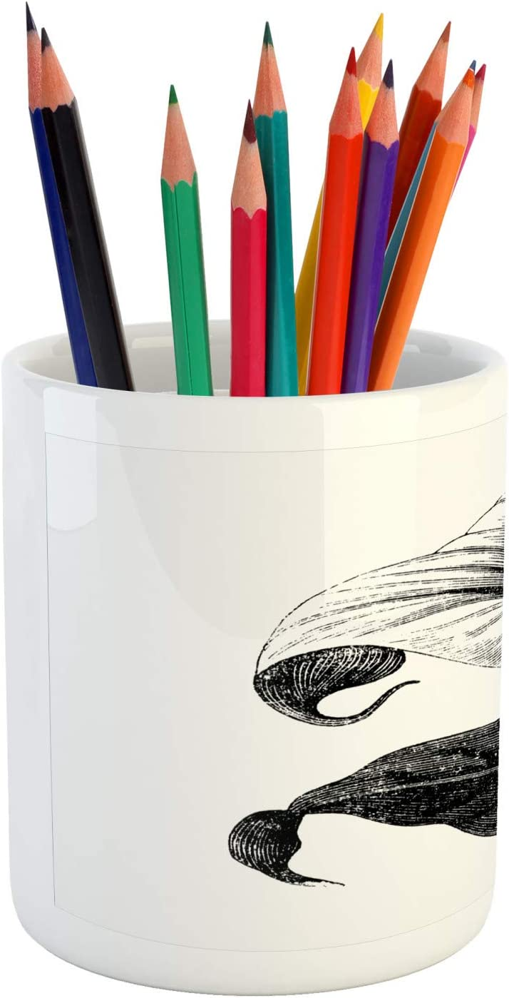 Amazon.com : Lunarable Calla Lily Pencil Pen Holder, Vintage Style