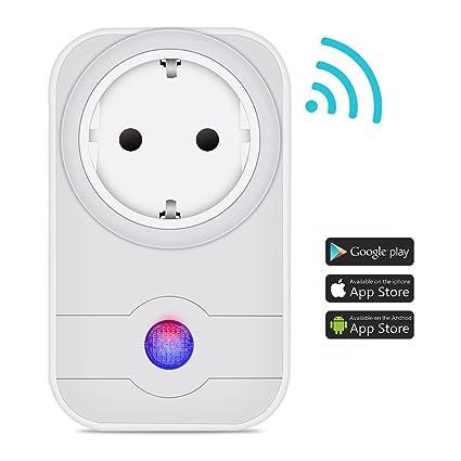 Wifi inteligente enchufe, HiWild trabajo con Amazon Alexa para iOS Android App No Hub necesaria