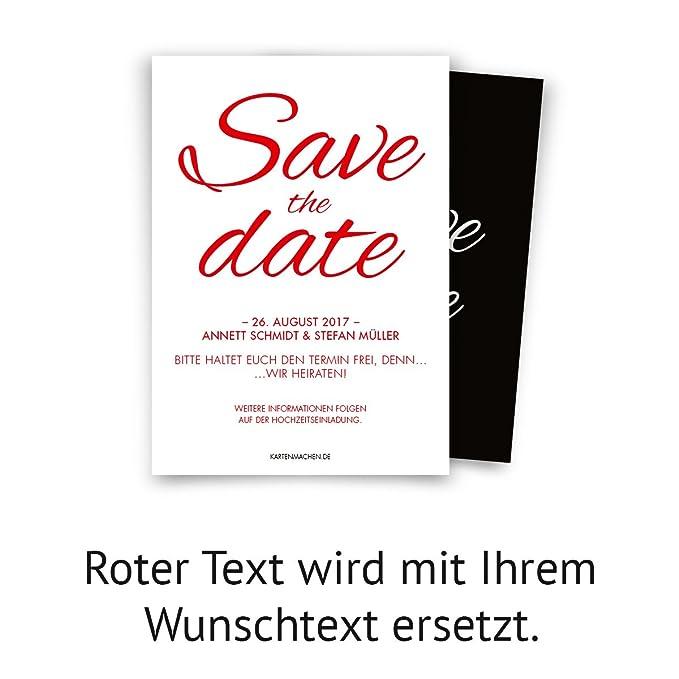 Save The Date Karten Zur Hochzeit 40 Stuck Schwarz Weiss