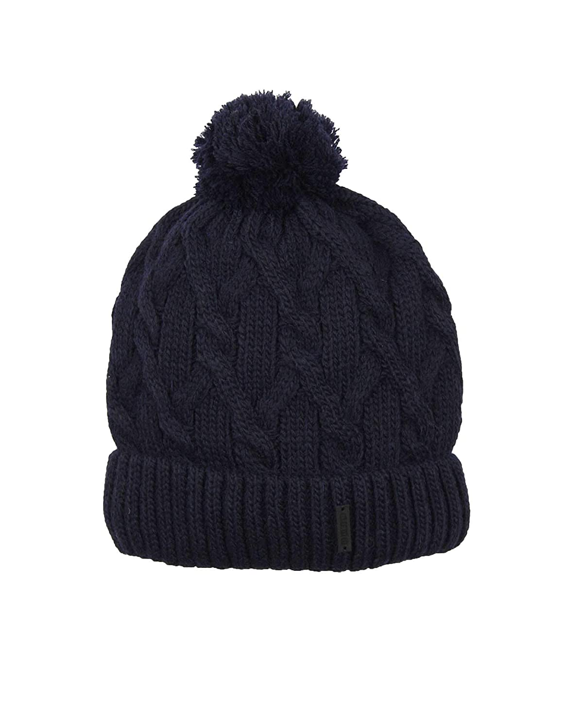 Sizes 2-10 Barbaras Boys Cable Knit Hat in Navy with Pompom