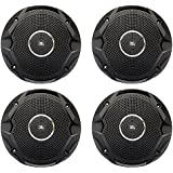 4x JBL 6.5 150 Watts Dual Cone Boat Speakers - Black (2 Pairs)