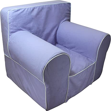 CUB CHAIRS Comfy Regular Lavender Kidu0027s Chair With Machine Washable  Removable Cover