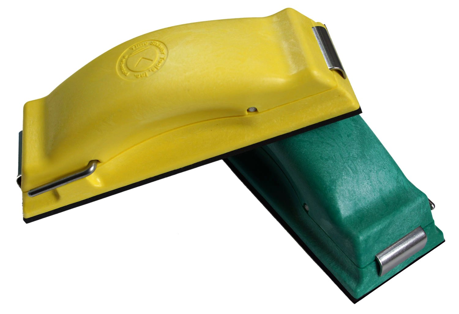 Time Shaver Tools Preppin' Weapon Ergonomic Sanding Block, for Wet and Dry Sanding! Easy to Load, Multi-purpose Plain Paper Sander! Set of 2 Color Coded Hand Sanders (Green and Yellow)