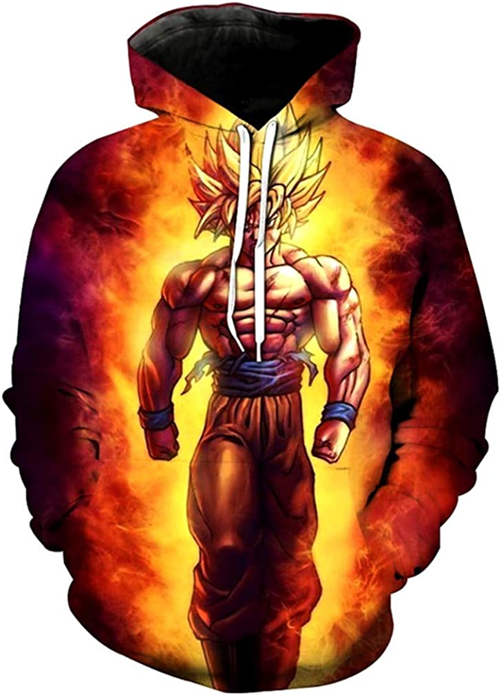 Men Women Dragon Ball z 3D Print Hoodie Sweater Mens Vegeta Sweatshirt Wukong Long Sleeve Top Outwear