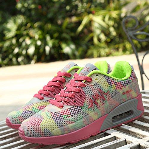 et de Rose House athlétique Gym Chaussures Peggie Vert Baskets Femmes Sports Course Fitness 6txqdPFwO