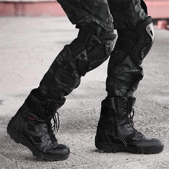 WOJIAO Männer Militärstiefel Vier Jahreszeiten Allgemeine