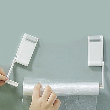 Ajustable Magnético montado en la pared toalla rollo de papel estante soporte dispensador de papel higiénico