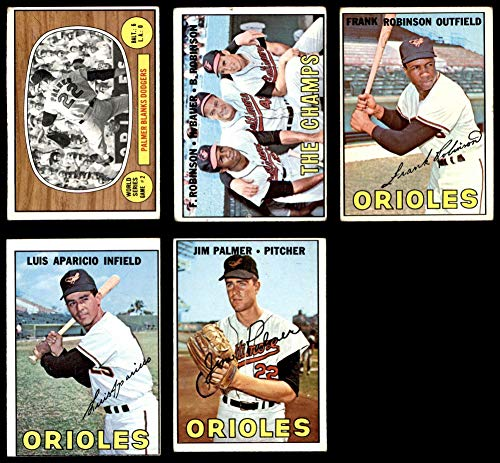 1967 Topps Baltimore Orioles Team Set Baltimore Orioles (Baseball Set) Dean's Cards 4 - VG/EX Orioles