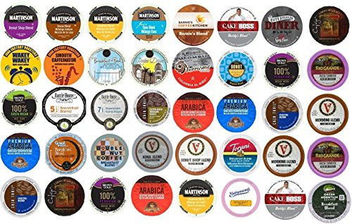 40 Count K Cup Variety Pack - Light & Medium Roasts Only - No Flavored or Dark - At Rodeo Shops Drive