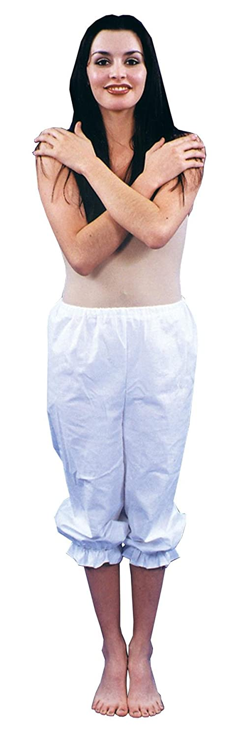 White Medieval Knee-Length Pantaloons - DeluxeAdultCostumes.com