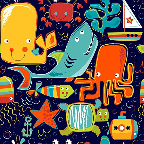 Ocean Friends Gift Wrap Roll - 24'' x 16' by Party Explosions
