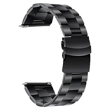 TRUMiRR 22mm Banda de Reloj de liberación rápida Banda de Acero Inoxidable para Gear S3