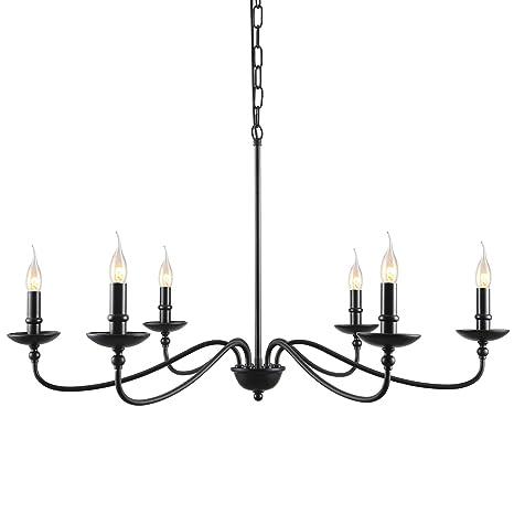 Amazon.com: Lámpara colgante de techo con forma de rama de ...