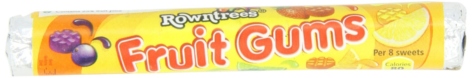 Rowntree's Fruit Gum Roll, 1.6-Ounces (Pack of 18)