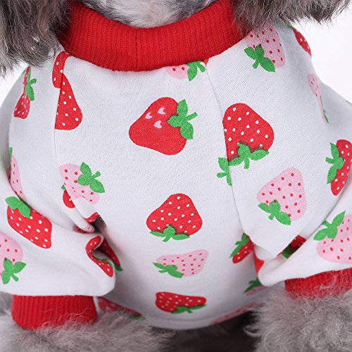 HongYH Dog Dogs Dog Pajamas Rompers Pet Jumpsuits Bodysuits Small and Cats