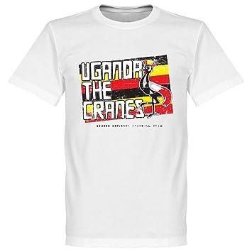 Uganda Grúas de la camiseta, color blanco, 100% algodón, blanco, XS