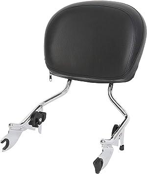 Chrome Adjustable Detachable Backrest Sissy Bar For Harley Road King FLHR 09UP