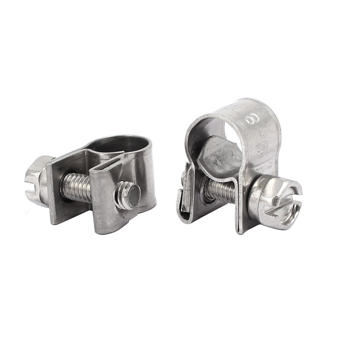 sourcingmap/® 6mm-8mm 304 vis en acier inoxydable tuyau r/églable mont/é Colliers 4pcs