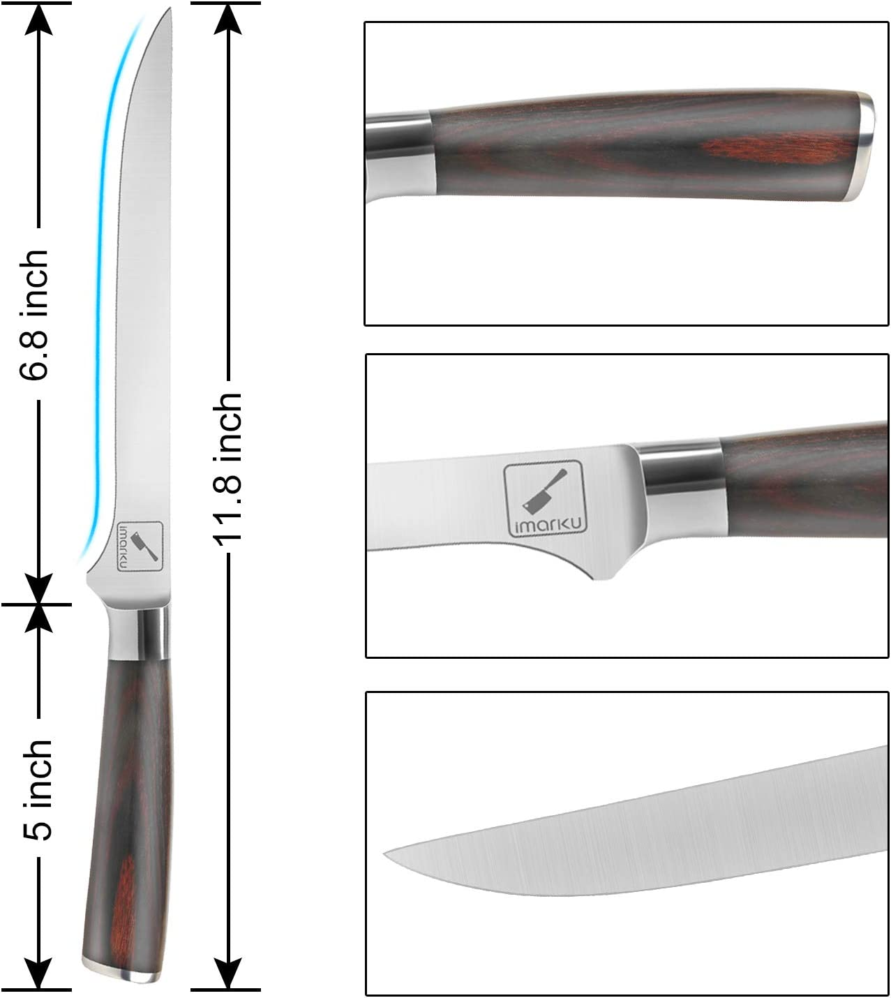 Details description of imarku Boning Knife
