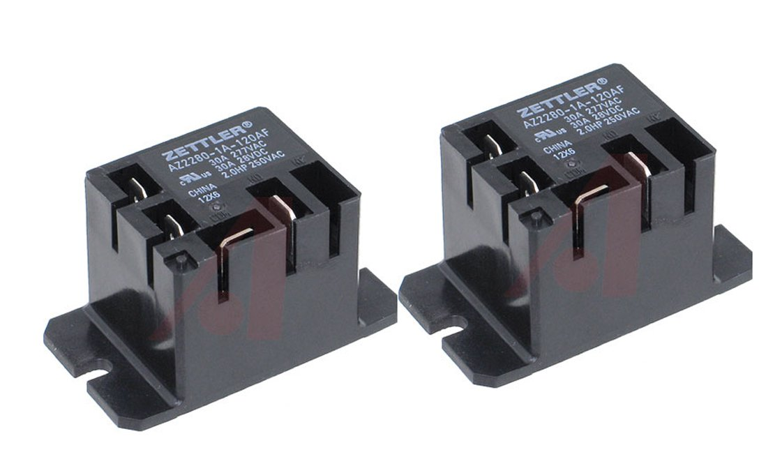 Zettler Mini Power Relay SPST 120V 30A AZ2280-1A-120AF (Pack of 2)