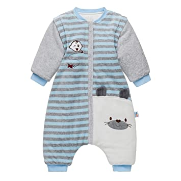 4a1304d76856 Baby Sleeping Bag with Feet and Removable Sleeves Toddler Wearable ...