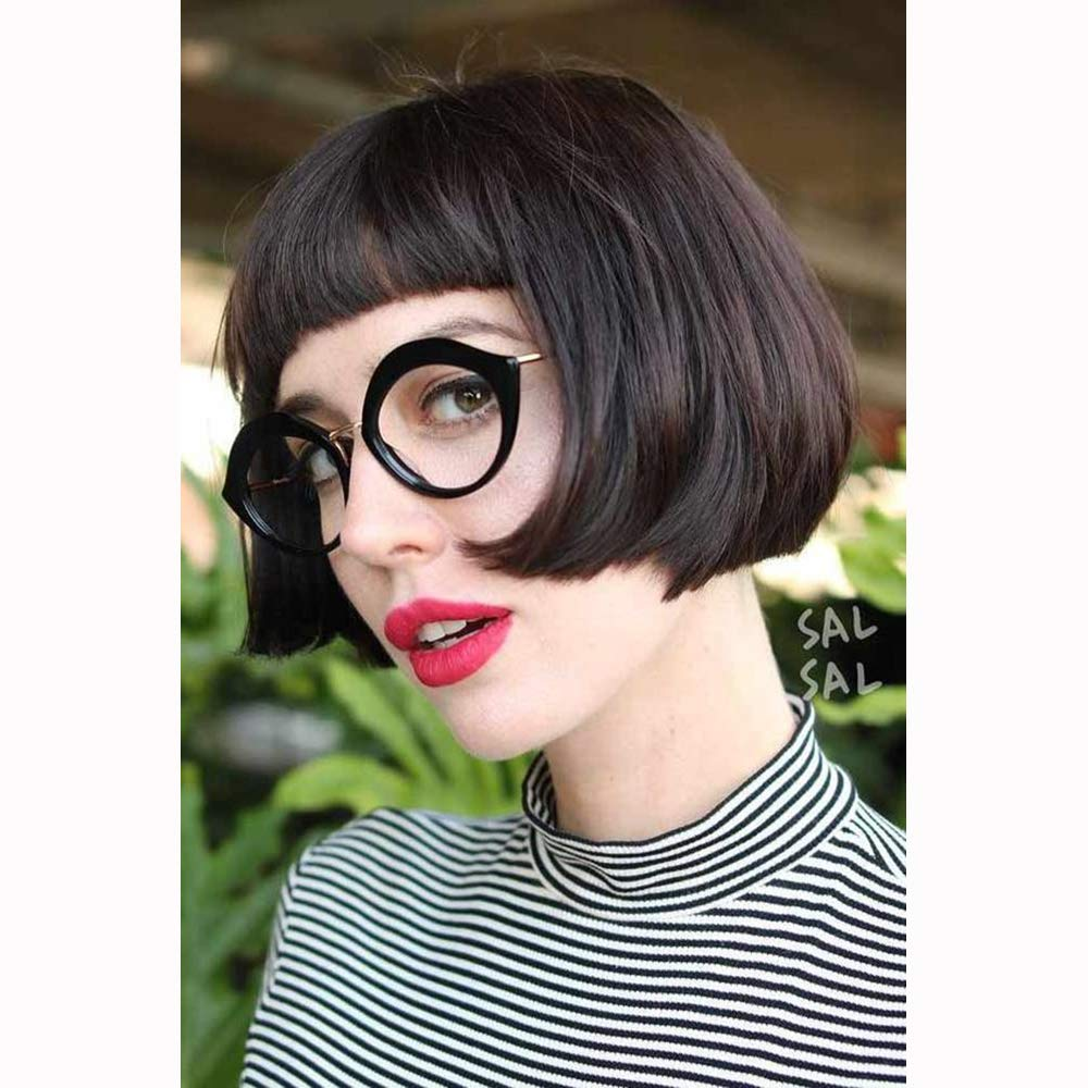 Amazon.com : STfantasy Bob Wig with Bangs Short Hairstyles ...