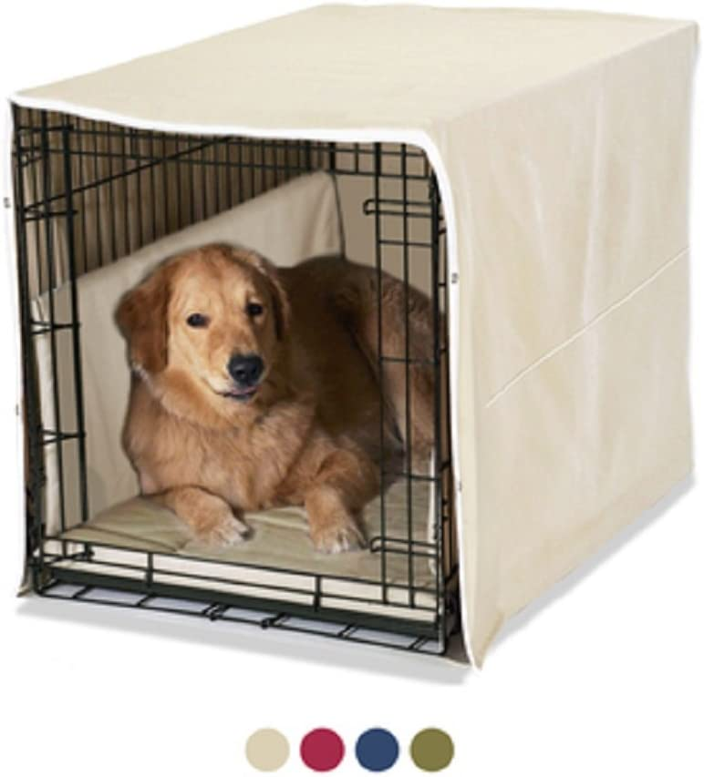 Pet Dreams New Double Door 3 Piece Crate Bedding Set. The Original Crate Cover, Crate PAD and Bumper JUST GOT Better! Fits Midwest Crate