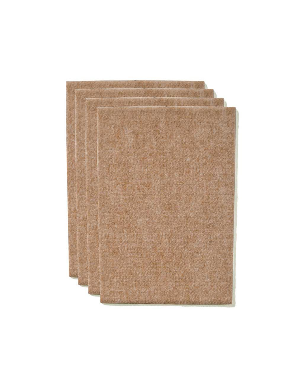 The Felt Store Taglio di Pattini Feltrini Pellicole Protettivi Tappetini di feltro per gambe delle sedie, tavole, mobilia, circa 11 cm x 15 cm x 0,5 cm autoadesivo, beige, molto durabile – 4 fogli molto durabile - 4 fogli