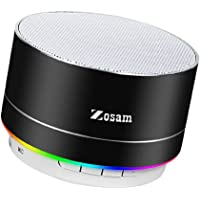 Zosam Portable Wireless Bluetooth Speaker Superb HD Sound &Enhanced Bass Mini Stereo Outdoor Speaker with Built-in Mic and SD/TF Card Slot for iPhone iPad PC Cellphone (Black)