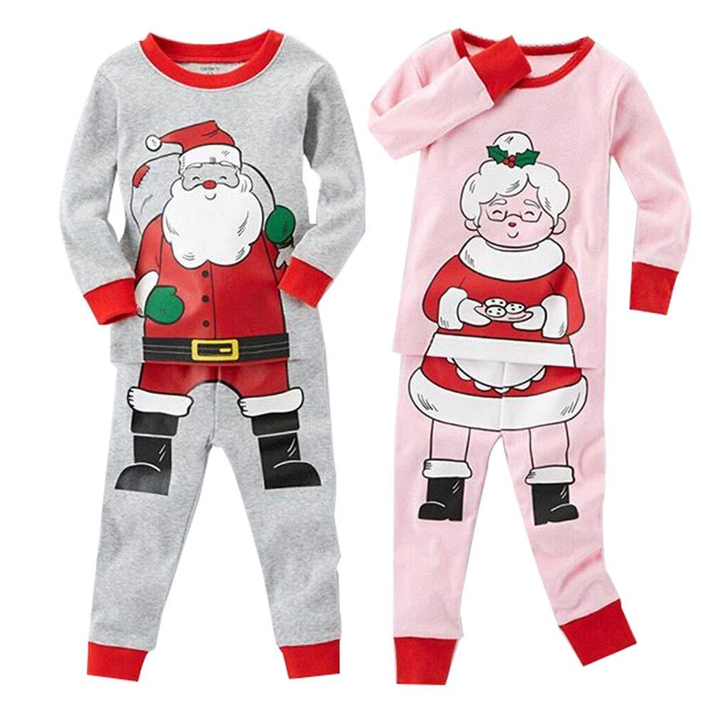 Kids Baby Boys Girls Santa Claus Pajamas Christmas Homewear Sleepwear Nightwear