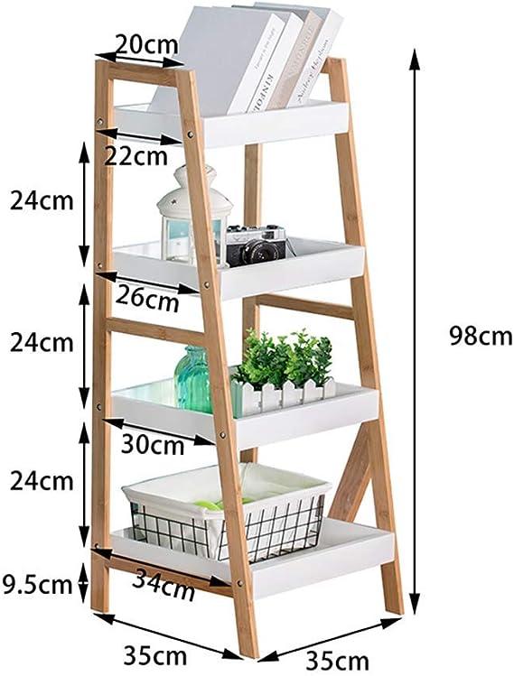 Eeayyygch estantería Escalera de Madera estantería estantería estantería estantería librería estantería Armario estantería Expositor Expositor 3 Tiers/4 Tiers (tamaño: 3 Niveles): Amazon.es: Hogar