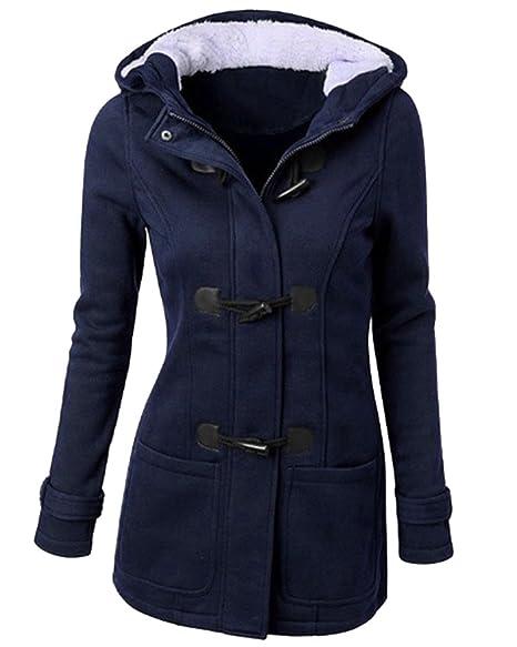d6d8b71b1 Mujer Invierno Abrigo Casual Sudadera con Capucha Chaqueta de Lana Capa  Jacket Parka Pullover  Amazon.es  Ropa y accesorios