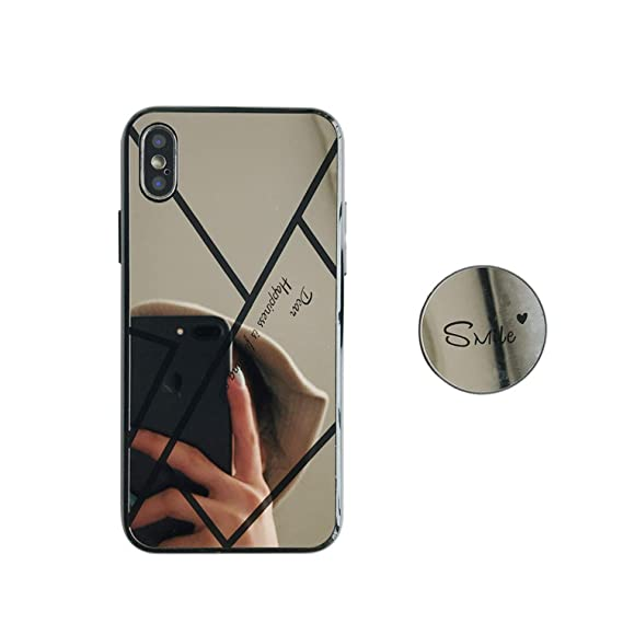 ed18d231c Phone case iPhone 6 6s 7 8 Plus x xr xs max Jelly Plating Mirror Makeup