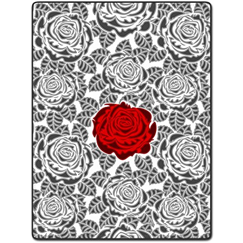 tslook-red-gray-rose-pattern-art-beautiful-home-welcome-door-mat-rug32x18l-x-w