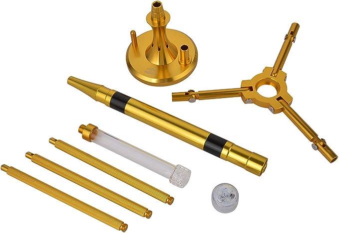 ADMY/® Shisha Aluminium 45 cm Shisha Trompete LED Licht Shisha Kamin Kopf 1 Anschlussadapter Silikonschlauch Aluminium Zigarettenspitze Shisha f/ür unterwegs